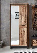PRATO Garderobenschrank mit Spiegel Alpine Lodge /