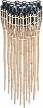 Pre&Mium 18 x Gartenfackel Bambus 90cm