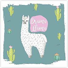 Preis am Stiel 2 x Magisches Handtuch - Lama |
