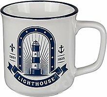 Preis am Stiel 4 x Becher Maritim Lighthouse |