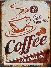 Preis am Stiel Blechschild Foodstuff Coffee |