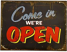 Preis am Stiel Blechschild Open/Close Geöffnet |