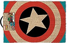 Preis am Stiel Fußmatte - Captain America Logo  