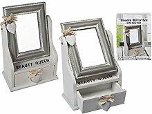Preis am Stiel® Holz-Spiegel-Box, Beauty Queen,