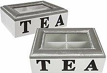 Preis amStiel® Holz-Teebox mit 4 Fächern