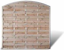 """Preishammer 6 x Holzzaun Garten Windschutz mit Bogen Maß 180 x 180 auf 160 cm (Breite x Höhe) aus Kiefer / Fichte Holz, druckimprägniert """"Berlin Bogen"""" Aktions Se"""