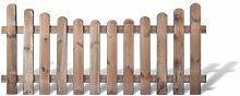 """Preishammer günstiges Zaunpaket 5 x Garten Zäune + Friesenzäune im Maß 180 x 80 auf 65 cm (Breite x Höhe) aus Kiefer/Fichte Holz, druckimprägniert """"Günstig & Gu"""