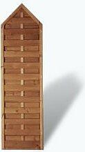 """Preiswerte Sichtschutz Holzzaunelemente Maß 60 x 210 auf 180 cm (Breite x Höhe) aus Kiefer / Fichte Holz, druckimprägniert """"Berlin"""" Massiv"""