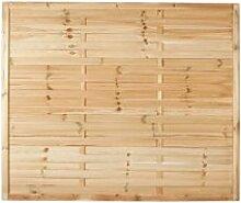 """Preiswerter Lamellenzaun / Holzzaun in den Maßen 180 x 150 (Breite x Höhe) aus druckimprägniertem Kiefer/Fichte Holz """"Hamburg II"""