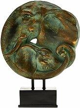 Premier Complements Skulptur Elefant Mutter und
