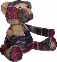 Premier Heritage Bear Large Door Stop, Polyester Fibre Filling, Polyester, Acrylic, Red