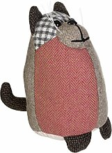 Premier Heritage Cat Large Door Stop, Polyester Fibre Filling, Polyester, Acrylic, Brown