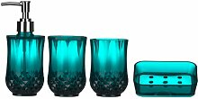 Premier Housewares 1601512 Cristallo Badezimmer Set 4-Stück, blau