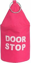 Premier Housewares 1901110 Türstopper aus Polyester, zylinderförmig, Rosa