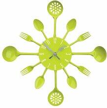 Premier Housewares 2200669 Besteck Wanduhr,grün