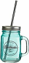 Premier Housewares Becher 450 Ml, Glas, PP -