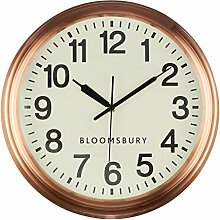 Premier Housewares Bloomsbury Wanduhr, metall,