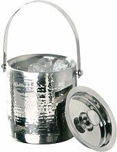 Premier Housewares Eiskübel mit gehämmertem Metalleffekt Edelstahl