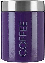 Premier Housewares Emaillierte Kaffeedose lila