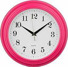 Premier Housewares Heiße rosa runde Wanduhr,