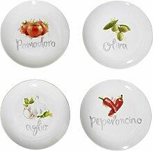 Premier Housewares Italia Antipvasti Teller, 4er