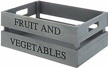 Premier Housewares Obst-und Gemüsekiste, Grau,