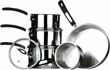 Premier Housewares Tenzo 5-teiliges Kochtopf-Set,