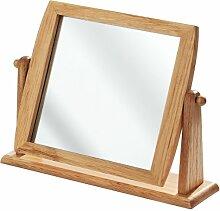 Premier Housewares Tischspiegel, 28 x 25 cm, mit Holzrahmen