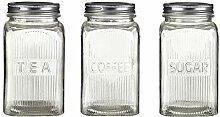 Premier Housewares Vorratsdosen, Metall, Silber,