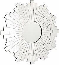 Premier Housewares Wandspiegel, rund, mit Glas