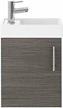 Premier min009Vault Compact Wand aufgehängt 400mm Schrank und Waschbecken, grau Avola, Set 2Stück