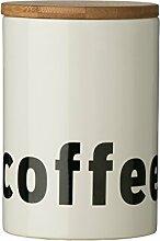 Premier Mono Kaffeedose mit Deckel, Bambus/Dolomit, Weiß