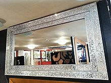 Premierinteriors Große Crackle Glas Silber Mosaik
