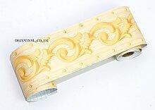 Premium 3D Gelb Bordüre Tapete selbstklebend Sticky Back Fablon Klebefolie Wand Decor