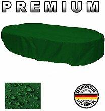 Premium Abdeckung Gartenmöbel Schutzhülle OVAL 160cm x 100cm x 70cm Tannengrün