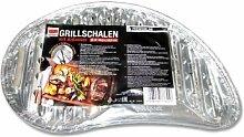 Premium Alu-Grillschale halbrund mit Anfasser, 30,5x18,5cm, 5 Stk.