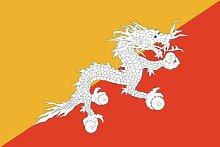 PREMIUM Aufkleber BHUTAN - Asien - Grösse: 8,4 x