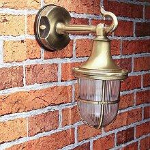 Premium Außenlampe Wand Messing echt rostfrei