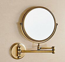 Premium-Bad Kosmetikspiegel Klappspiegel Schönheit Seitiger Spiegel Zum Vergrößern,Copper