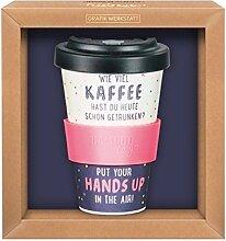 Premium Bamboo Becher Wie viel Kaffee hast du...
