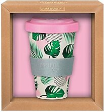 Premium Bamboo to go Becher Tropical