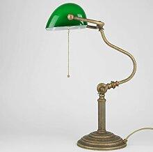 Premium Bankerlampe aus Messing in Antik Bronze
