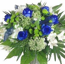 Premium Blumenstrauß blau-weiß - Blumenversand