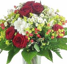 Premium Blumenstrauß rot - weiß - Blumenversand
