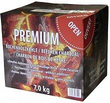 Premium Buchenholzkohle Krt. 7kg - Grillkohle, Holzkohle für jeden Grill und jedes Grillgu