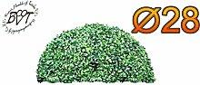 PREMIUM Buchs, Echtbaum-Optik, große Buchs, Buchsbaum-Halbkugel/Halbschale Ø 28 cm 280 mm grün dunkelgrün, fertig montiert, auf Wunsch mit Solarbeleuchtung SOLAR LICHT BELEUCHTUNG (Zubehör) mit Terracotta Topf Plastik und stabilem Fuß (Zement) Baumstamm Dekobuchs Dekobux Buchs Dekoration Buxbäumchen Buchsbäumchen Grünpflanzen Grünpflanze Hochzeitsgeschenk Geschenk Weihnachtsgeschenk für Weihnachten hochwertiges Design günstig Außen- und Innendeko Außendeko Innendeko