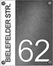 Premium Designer Hausnummer 20x25 cm mit UV Druck
