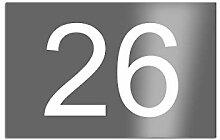 Premium Designer Hausnummer mit UV Druck und