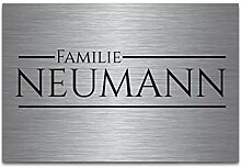 Premium Edelstahl Schilder mit Gravur   Türschild
