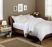 Premium Fadenzahl 1.200weiß massiv elegant 4Bed Sheet Set UK Small Single lang 100% ägyptische Baumwolle extra tief Tasche (18Zoll)–C2–von TRP Bla